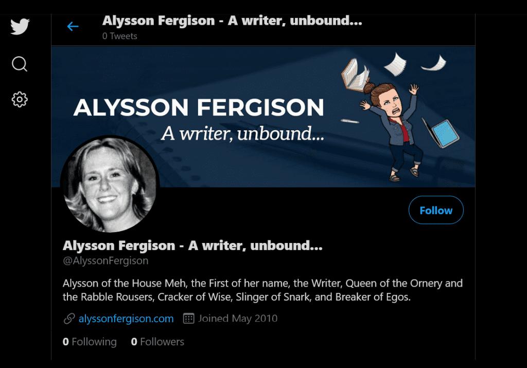 Twitter Account Screenshot